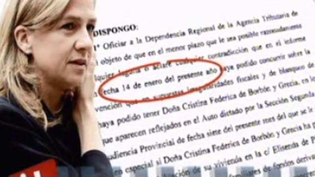 La Infanta Cristina pasó de cobrar 162.000 euros anuales a casi el doble