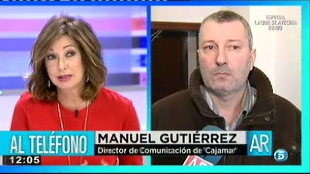 El director de comunicación de Cajamar asegura que Jesús y su familia no se quedarán en la calle