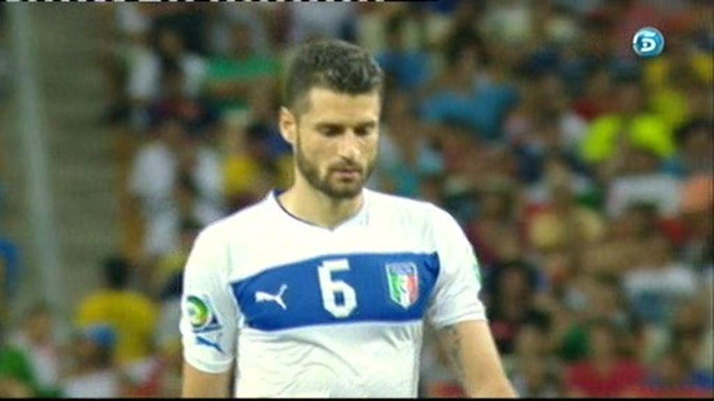 España 0-1 Italia (penalti de Candreva)