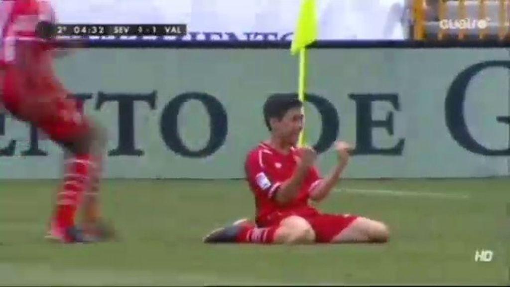 Gol: Sevilla 1 - 1 Valencia (Min. 16)