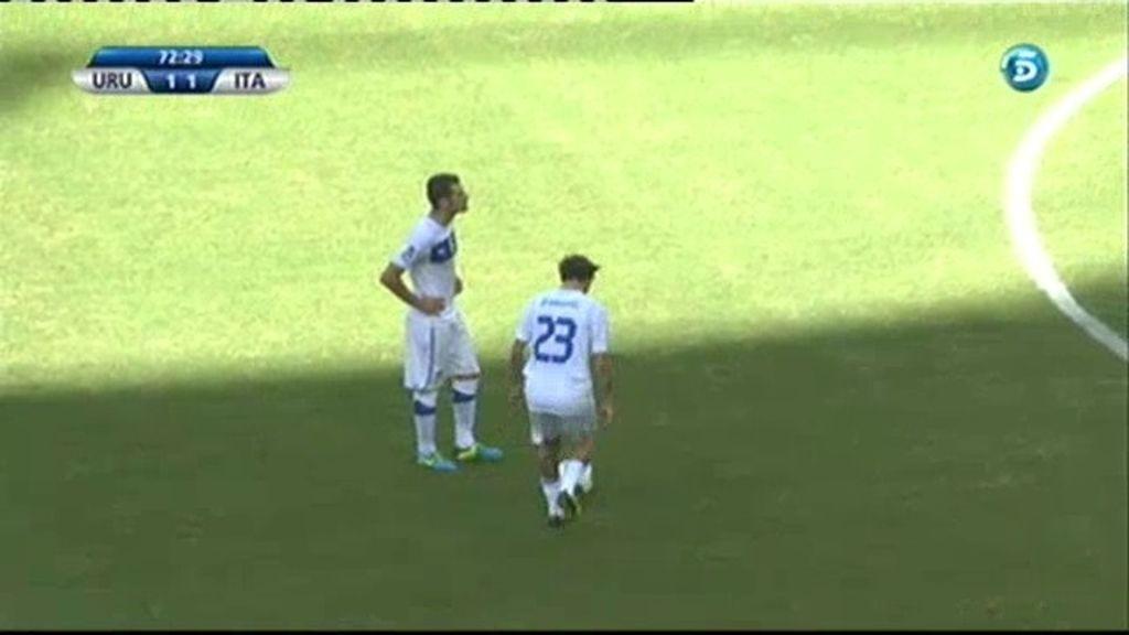Gol: Uruguay 1-2 Italia (min.73)