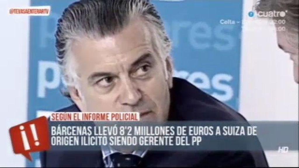 El informe policial sostiene que Bárcenas alimentó sus cuentas con dinero irregular