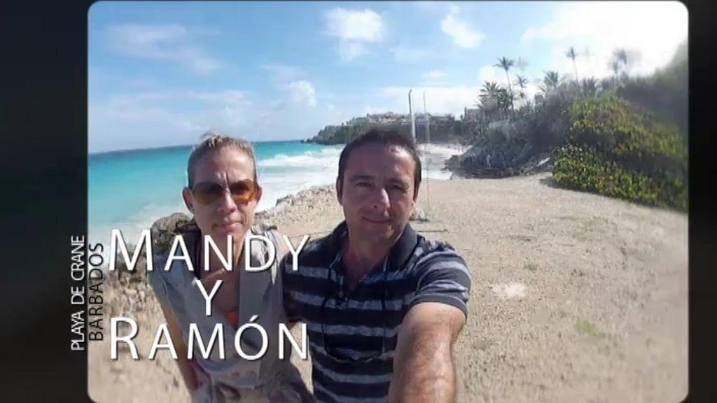 Ramón, en el paraíso con su mujer y su hijo