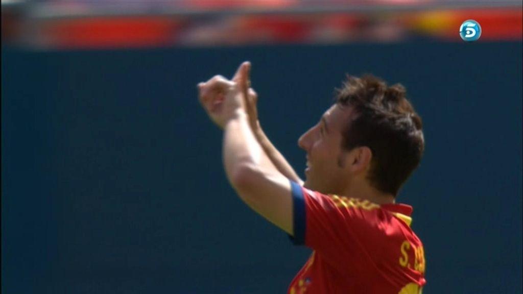 Gol: España 1 - 0 Haití (min. 7)
