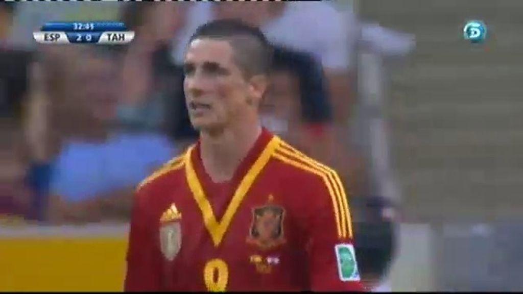 Gol: España 3-0 Tahití (Min.33)