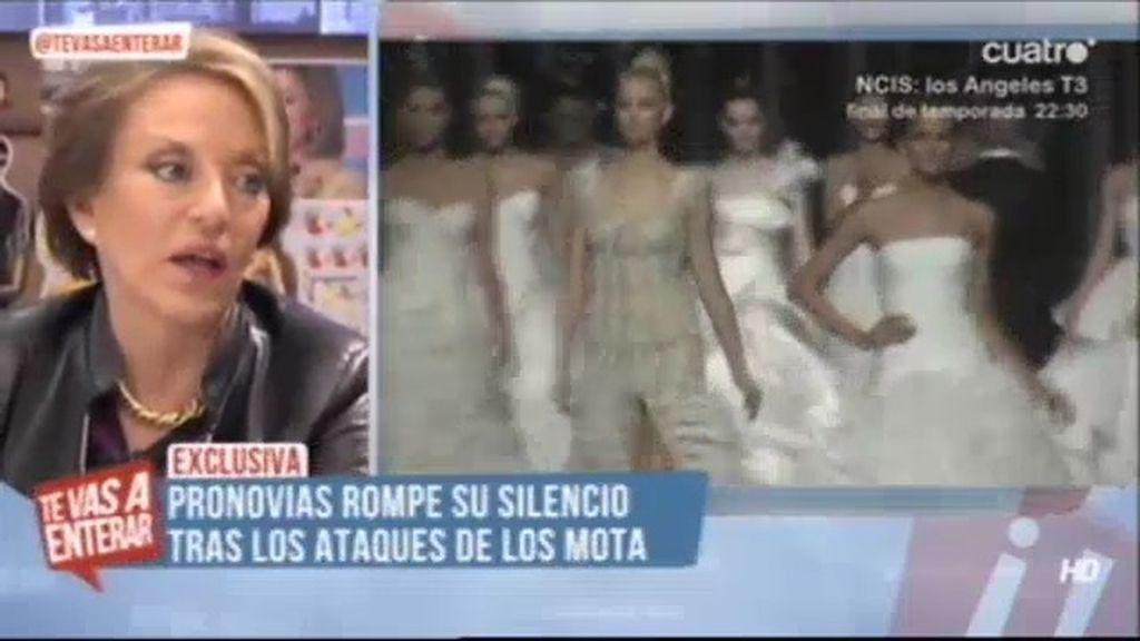 Mª Eugenia Yagüe defiende a Pronovias