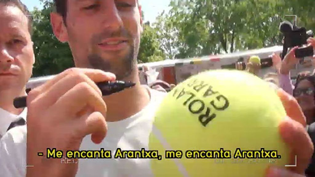 "Djokovic: ""Me encanta Arantxa"""