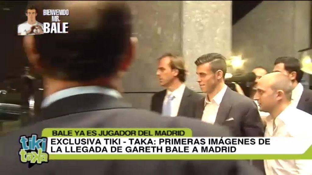 Bale llega a su hotel de Madrid