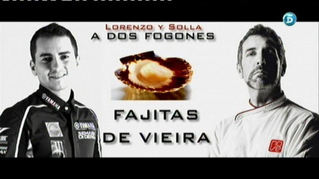 Jorge Lorenzo y Pepe Solla, a dos fogones