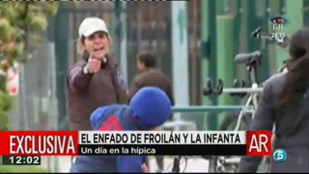 El enfado de la Infanta Elena en la hípica