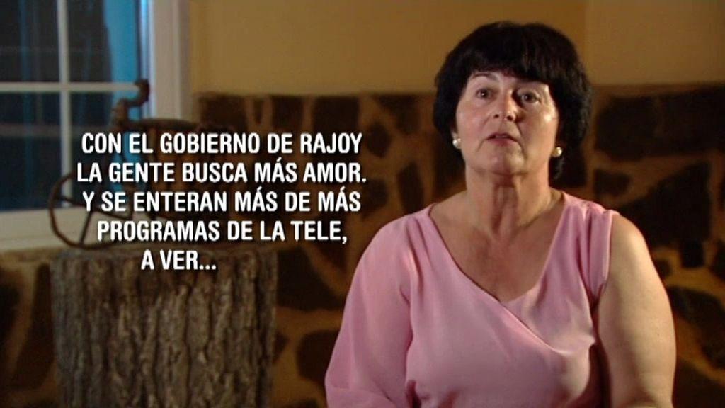 """Mari Carmen: """"Con el gobierno de Rajoy la gente está buscando más amor"""""""