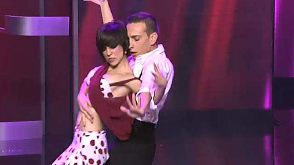 Miguel de María y Juani Rodríguez, 19 y 18 años, baile de salón