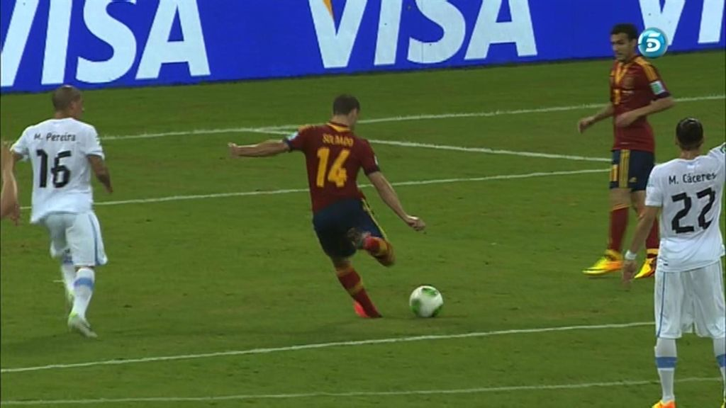 Gol de Soldado (España 2 - 0 Uruguay)