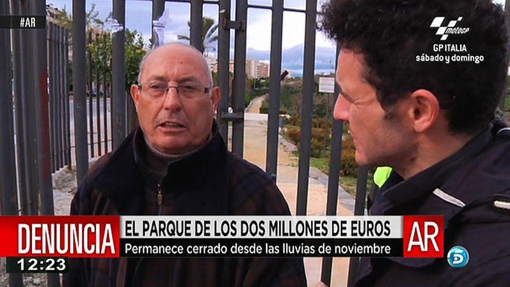 El parque de La Laguna, que costó 2 millones de euros, cerrado desde noviembre