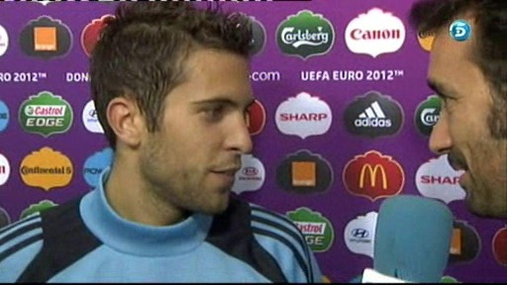 """Jordi Alba: """"Siendo fieles a nuestro estilo podemos ganar a Portugal"""""""