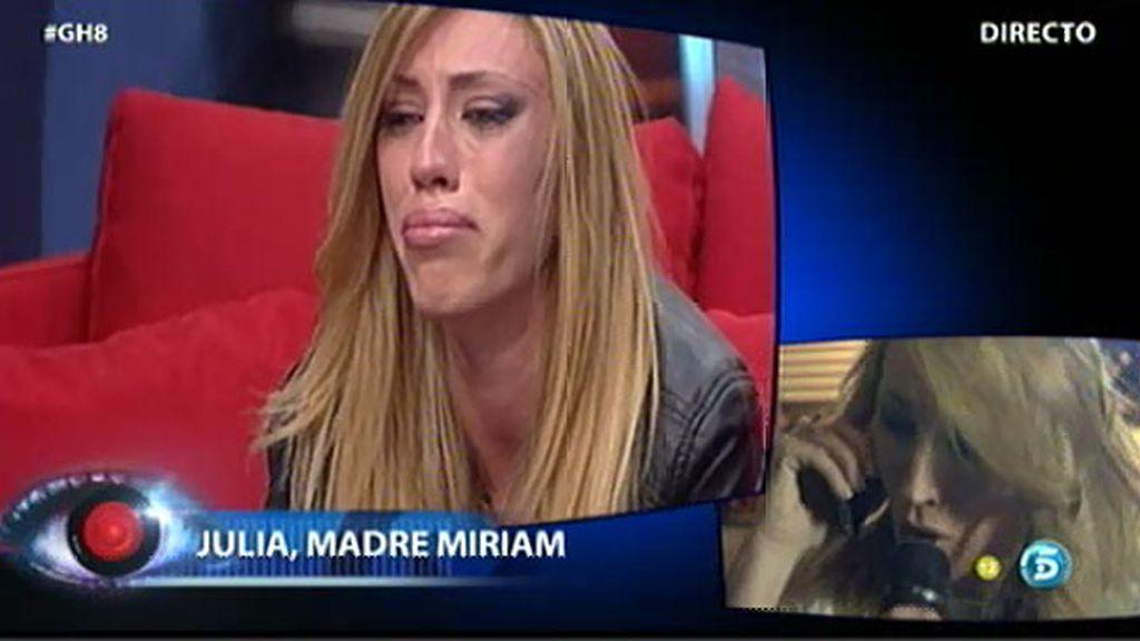 La madre de Miriam le pide que cambie su actitud con Igor