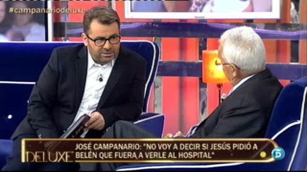 """José Campanario, a Jorge Javier: """"Tú eres el presentador que más daño me ha hecho"""""""
