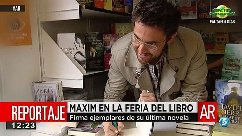 Màxim Huerta, en la feria del libro