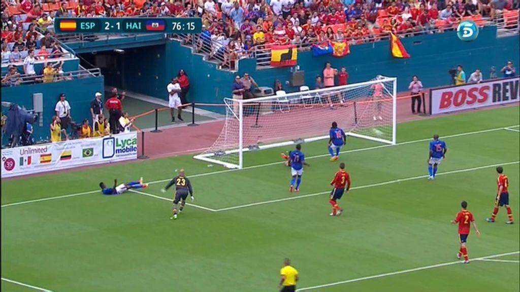 Gol: España 2 – 1 Haití