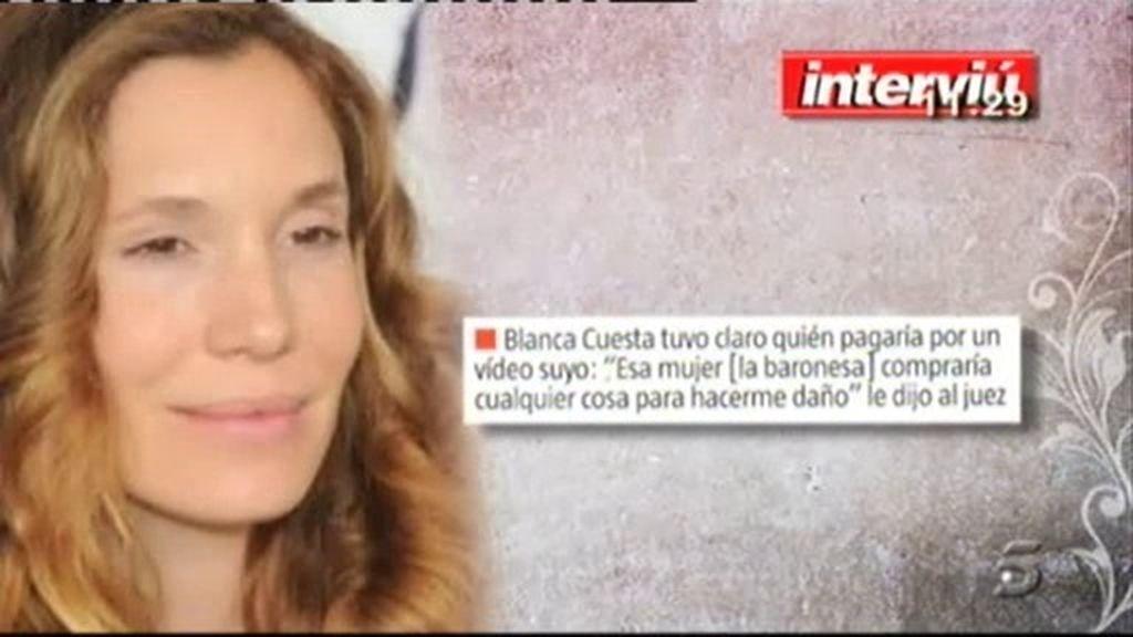 """Blanca Cuesta, sobre Tita Cervera: """"Esa mujer compraría cualquier para hacerme daño"""""""
