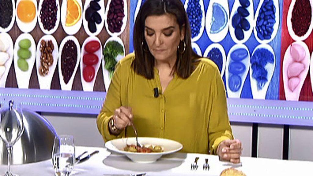 """María Jiménez Latorre, sobre las patatas con chipirón: """"La salasa está pasada de aceite"""""""