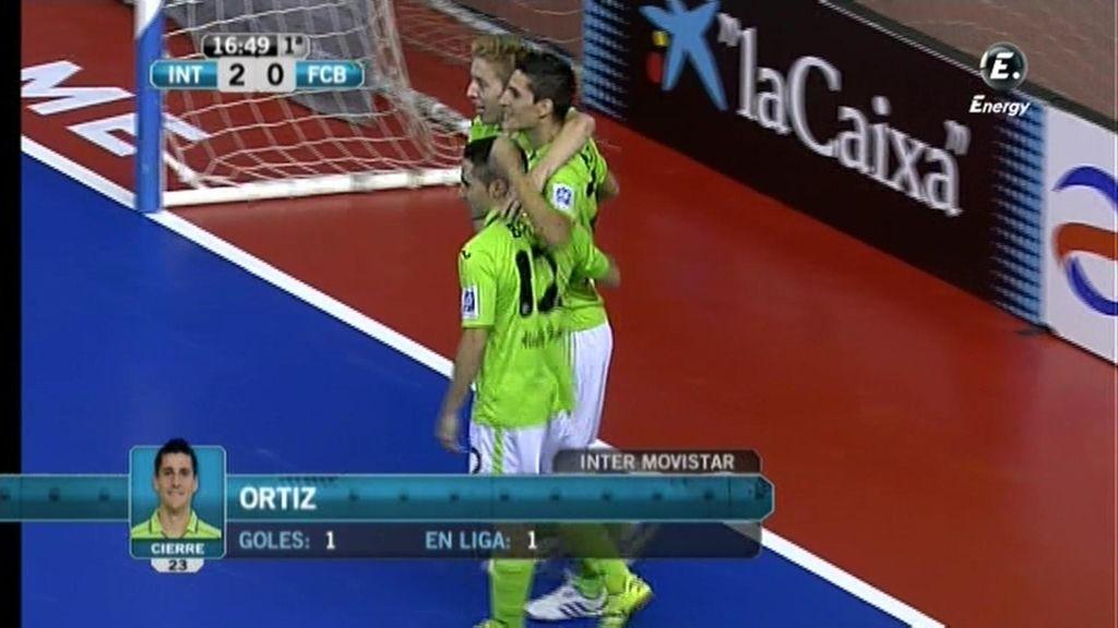 Gol de Ortiz (Inter 2 - 0 Barcelona)