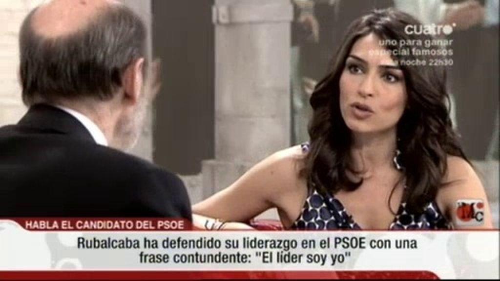"""Rubalcaba: """"El líder del PSOE soy yo"""""""