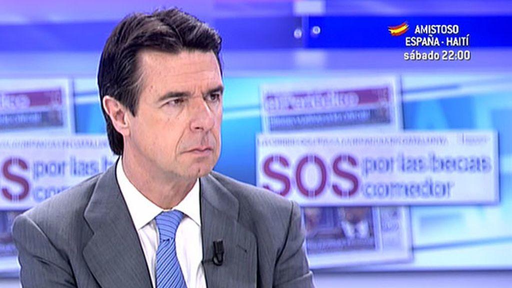 """Soria: """"Es probable que este año la electricidad tenga una evolución mucho mejor en términos de precio"""""""