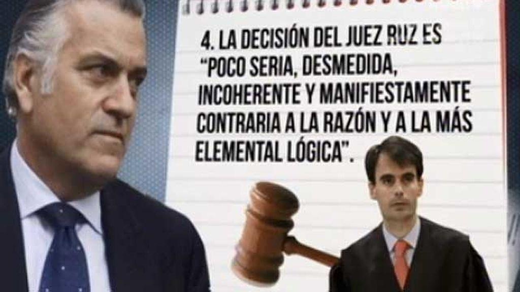 Las razones de Bárcenas para que el juez Ruz le quite las medidas cautelares