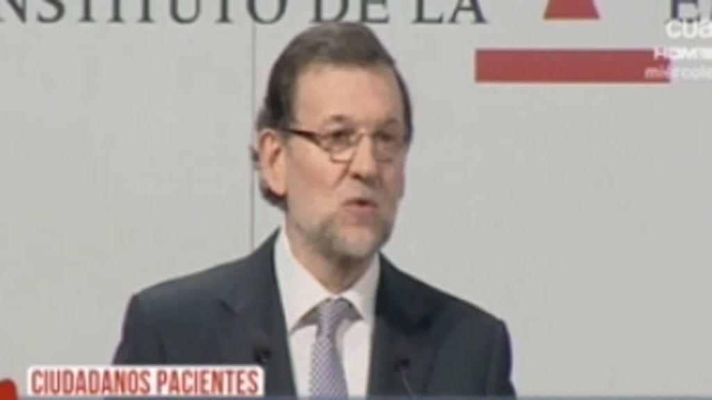 Rajoy pide paciencia  a los ciudadanos