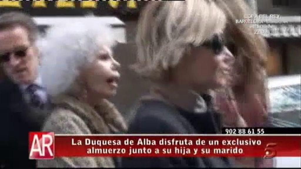 El exclusivo almuerzo de la Duquesa de Alba, su hija Eugenia y su marido, Alfonso Díez