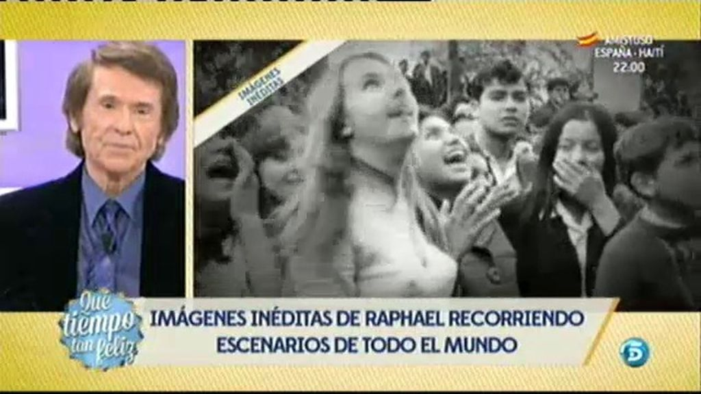 Imágenes inéditas del fenómeno fan de Raphael