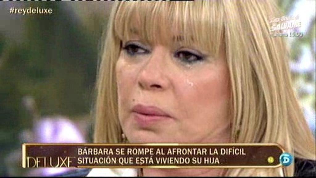 Bárbara se derrumba al hablar de su hija