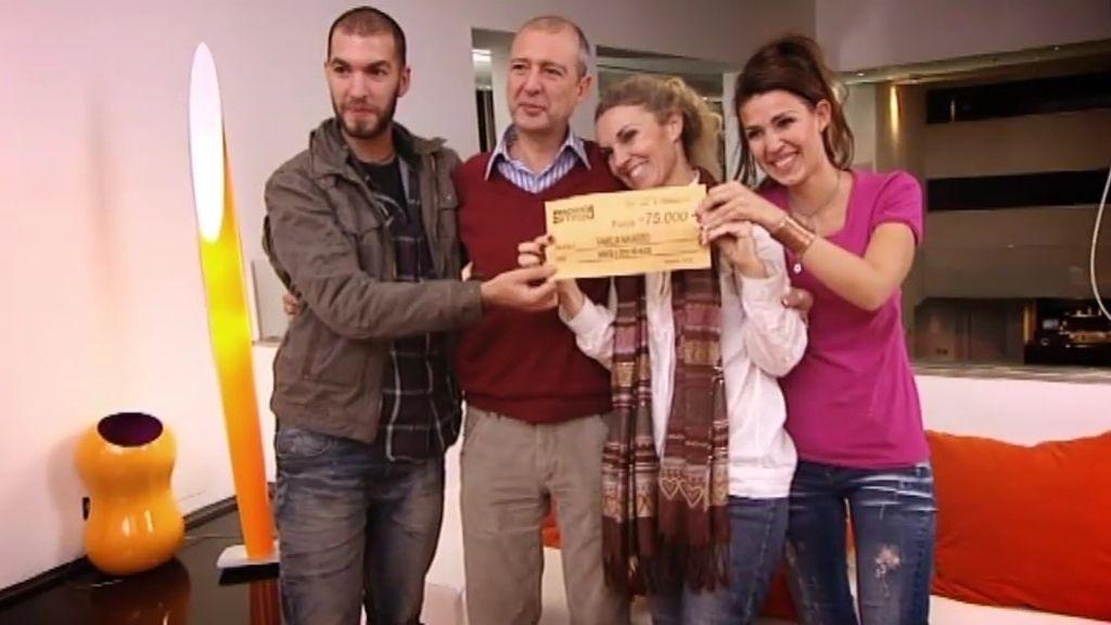 Los Navarro ganan 75.000 euros