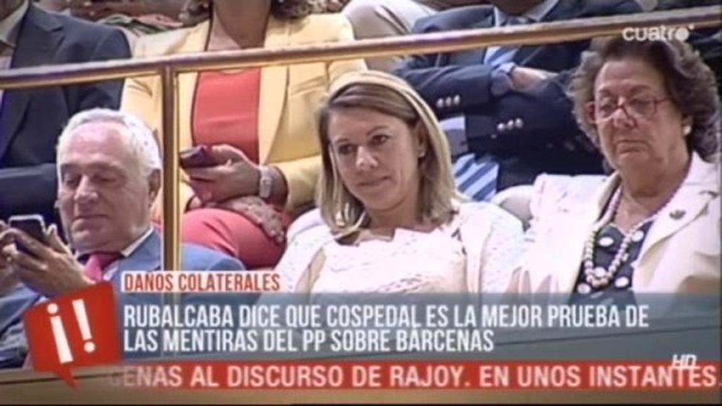 Mª Dolores de Cospedal, el daño colateral de la comparecencia de Rajoy