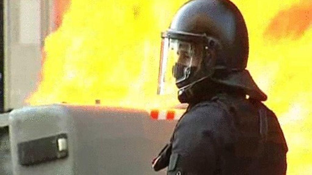 Batalla en las calles de Barcelona