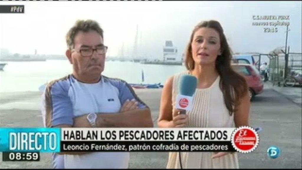 """Leoncio Fernández, patrón de una cofradía: """"La culpa la tiene el Gobierno por permitir que tiren los bloques ahí"""""""