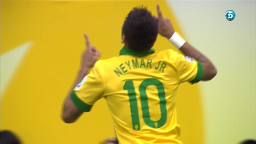 Gol de Neymar (Brasil 1 - 0 Japón)