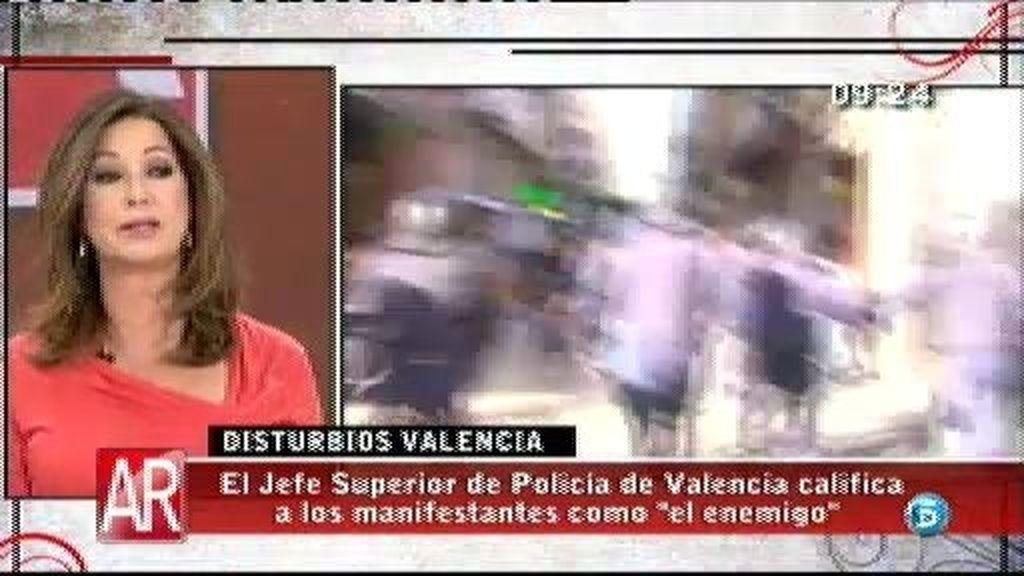 """Sánchez Farnet, secretario general del SUP, sobre los disturbio de Valencia: """"Podemos, debemos y sabemos hacerlo mejor"""""""