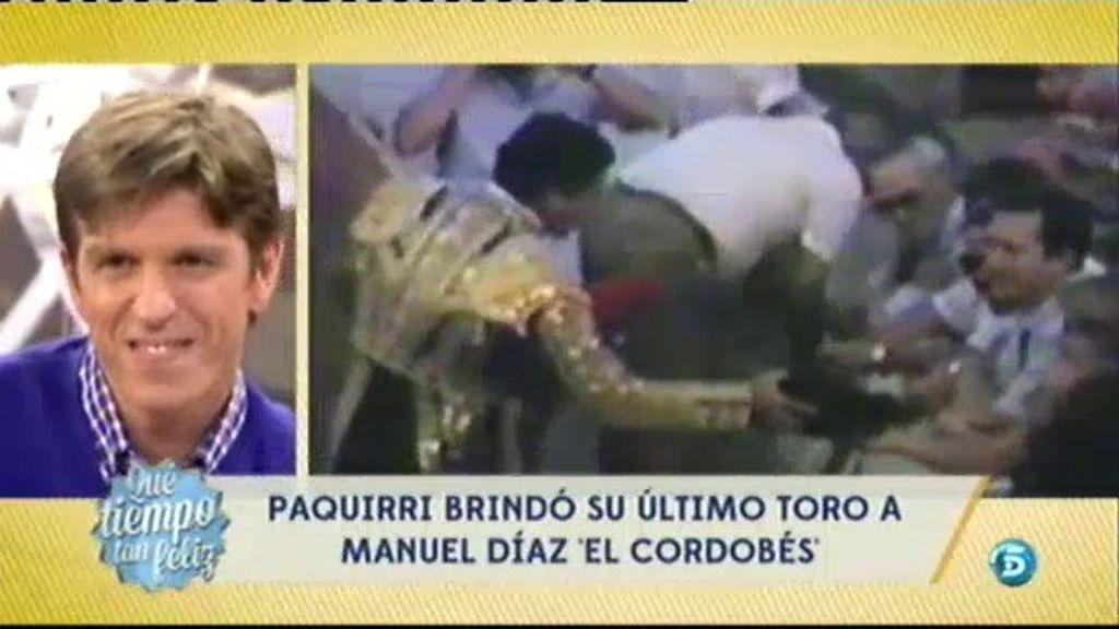 'Paquirri' brindó su último toro a Manuel Díaz