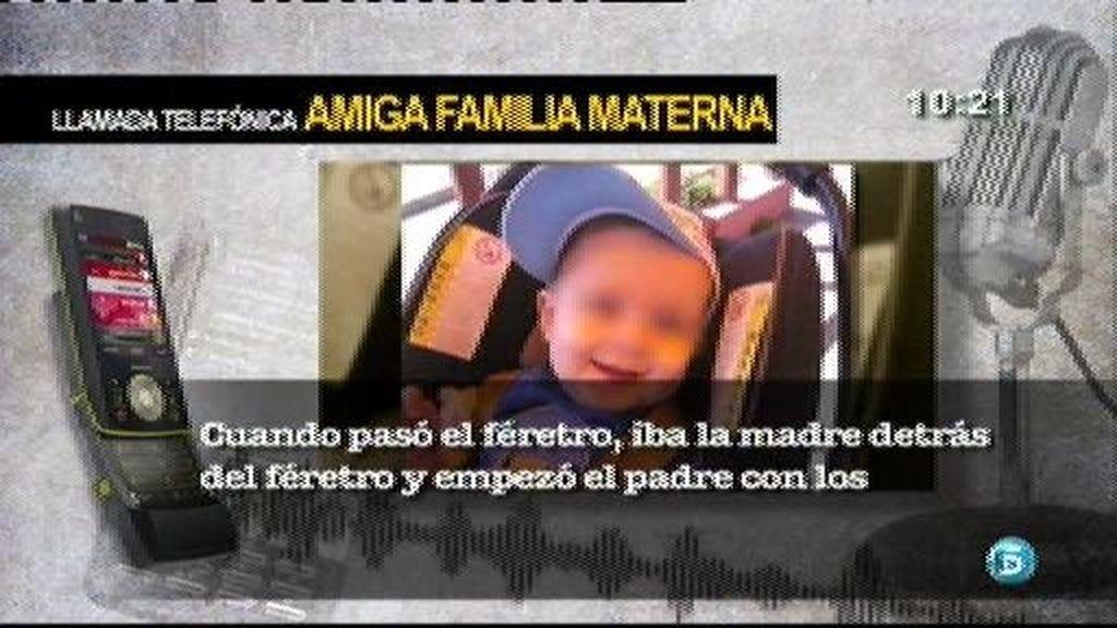 El padre del bebé muerto en Tarazona amenaza a la madre en el entierro