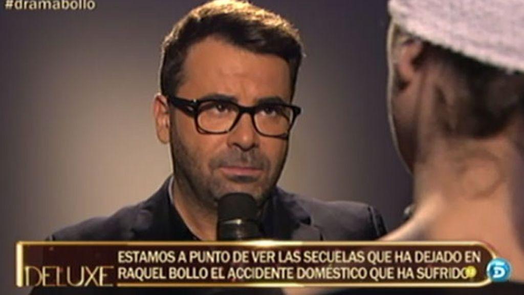 Jorge Javier ve por primera vez a Raquel Bollo tras el accidente