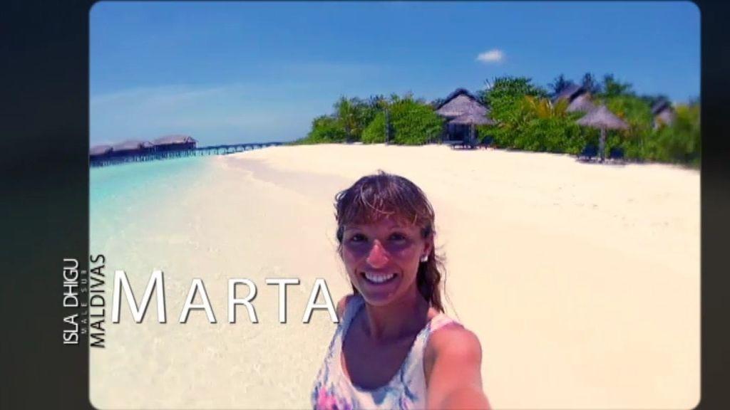 Marta es buceadora pero ¡sabe volar!