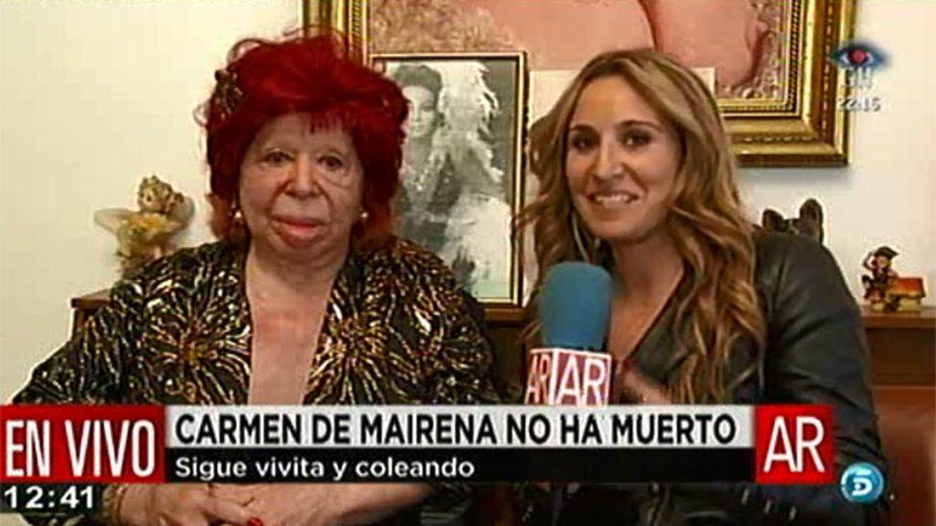 Carmen de Mairena, vivita y coleando