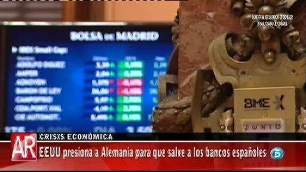 EE.UU presiona a Alemania para que salve a los bancos españoles