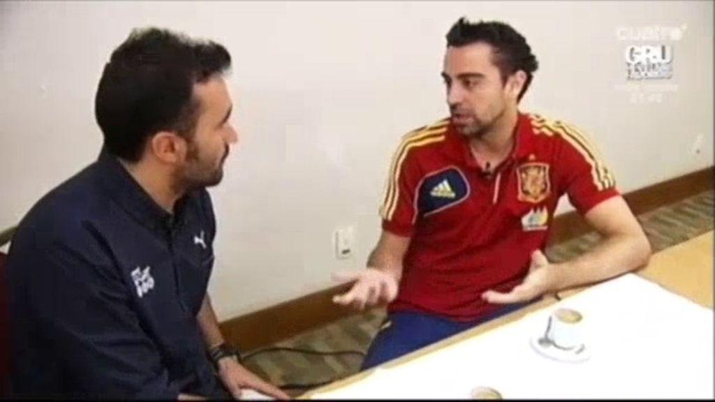 """Xavi Hernández: """"Estamos cansados, pero anímicamente estamos bien"""""""