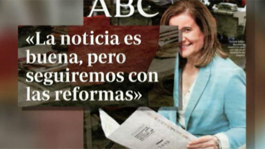 """Fátima Báñez, en ABC: """"La noticia es buena pero seguiremos con las reformas"""""""