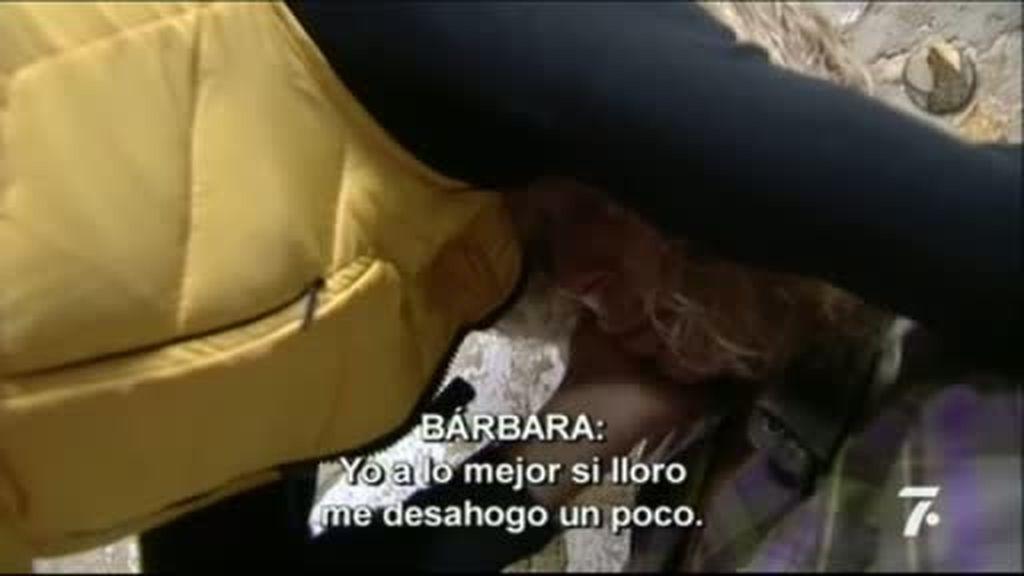 Bárbara se derrumba, literalmente