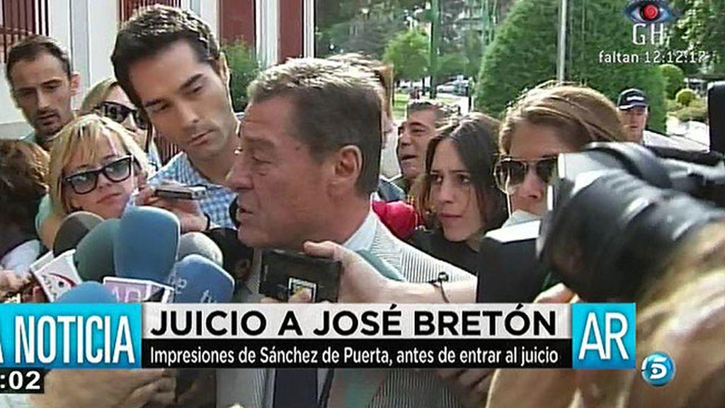 """Sánchez de Puerta: """"Le he aconsejado que responda a todo porque no tiene nada que esconder"""""""