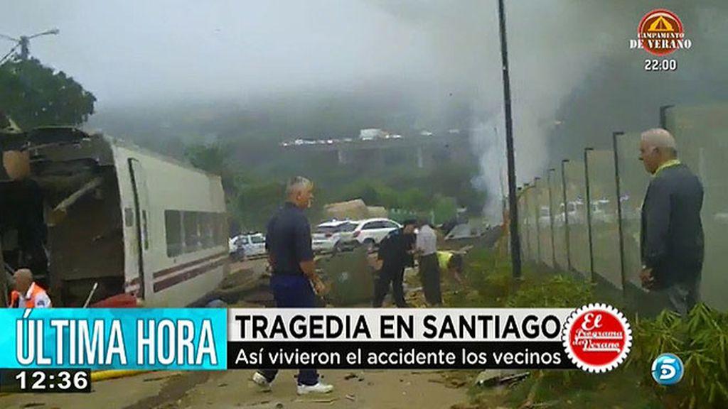 Así vivieron el accidente los vecinos de Santiago de Compostela